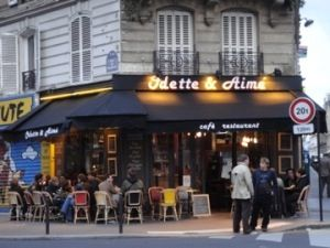 Odette et Aime cafe in Paris (not far from Gard du Nord). Fond memories of last night in Paris.