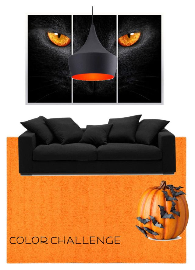 """""""Untitled #364"""" by xio24 on Polyvore featuring interior, interiors, interior design, home, home decor, interior decorating, BoConcept, Zuo, Improvements and orangeandblack"""
