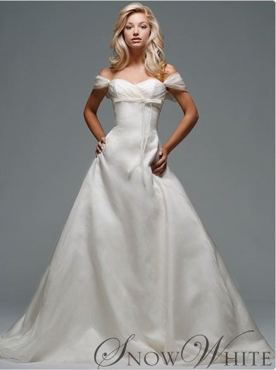 "fairy tale wedding dress -- inspired by ""Snow White"""