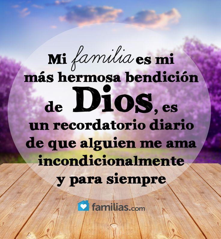 Mi familia es un recordatorio diario de que Dios me ama