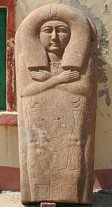The sarcophagus lid of Prince Hornakht....son of PharaohOsorkon II from Dynasty XXll.