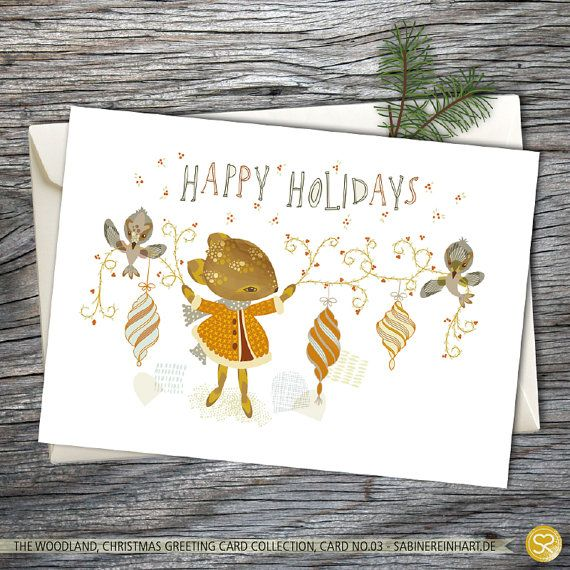 Christmas Card Winter Woodland Holiday Card Christmas
