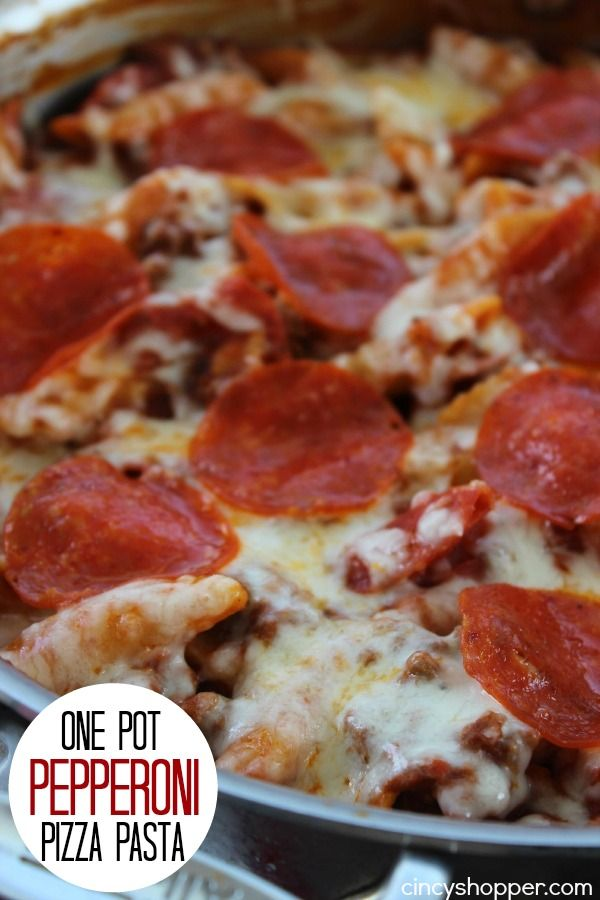 This one Pot Pepperoni Pizza Pasta Meal comes together in no time at all and was a perfect meal for my larger family. This pasta dish can be made with your