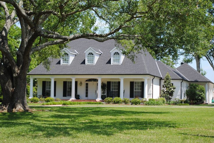 The 25 best acadian style homes ideas on pinterest for Acadian style house plans with wrap around porch