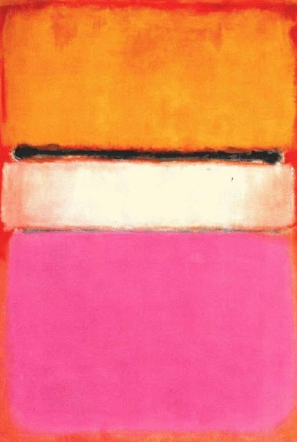 "Rothko | White Centre, 1950 (yellow, pink and lavender on rosé | oil on canvas, 55.5""x81""/sm"