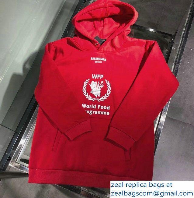 Balenciaga Supports World Food Programme Hoodie Sweater Red 2018 Sweater Hoodie Hoodies Sweaters