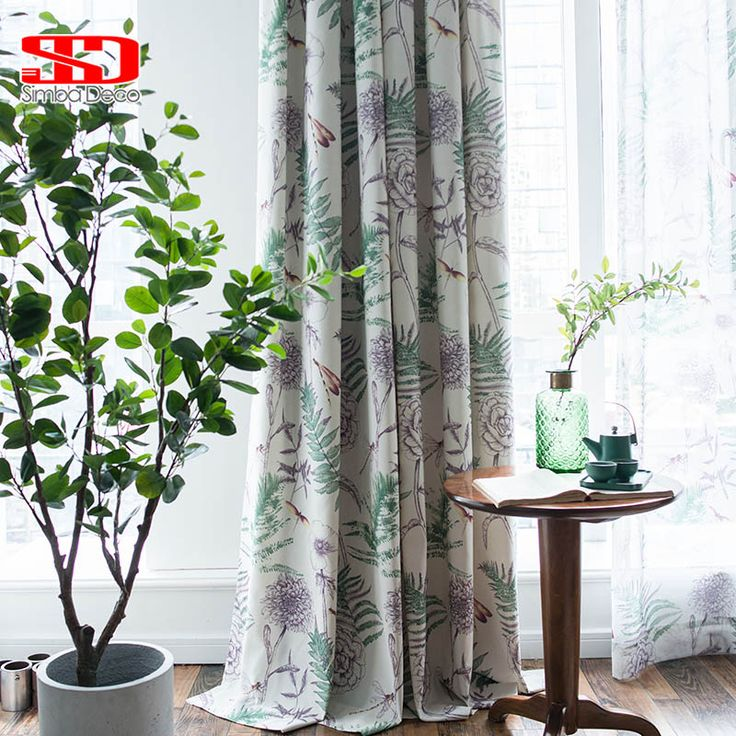 Modern Printing Cotton Curtains for Living Room Country style Floral Cortinas for Bedroom Screen Single Panel. Yesterday's price: US $24.00 (19.76 EUR). Today's price: US $14.64 (12.05 EUR). Discount: 39%.
