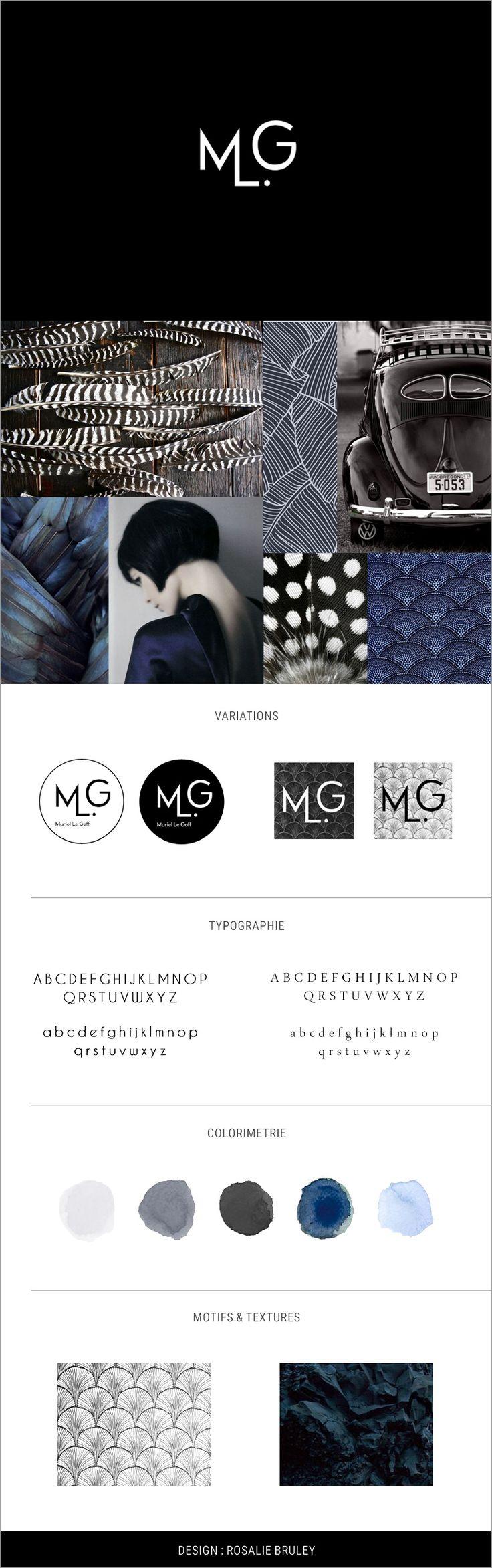 Identité visuelle de Muriel Le Goff, conseil en image. Design : Rosalie Bruley