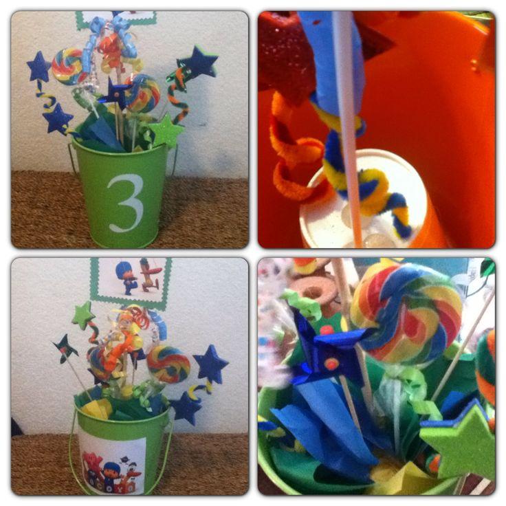 Pocoyo Birthday Party Centerpiece. Bucket W. #3 On It