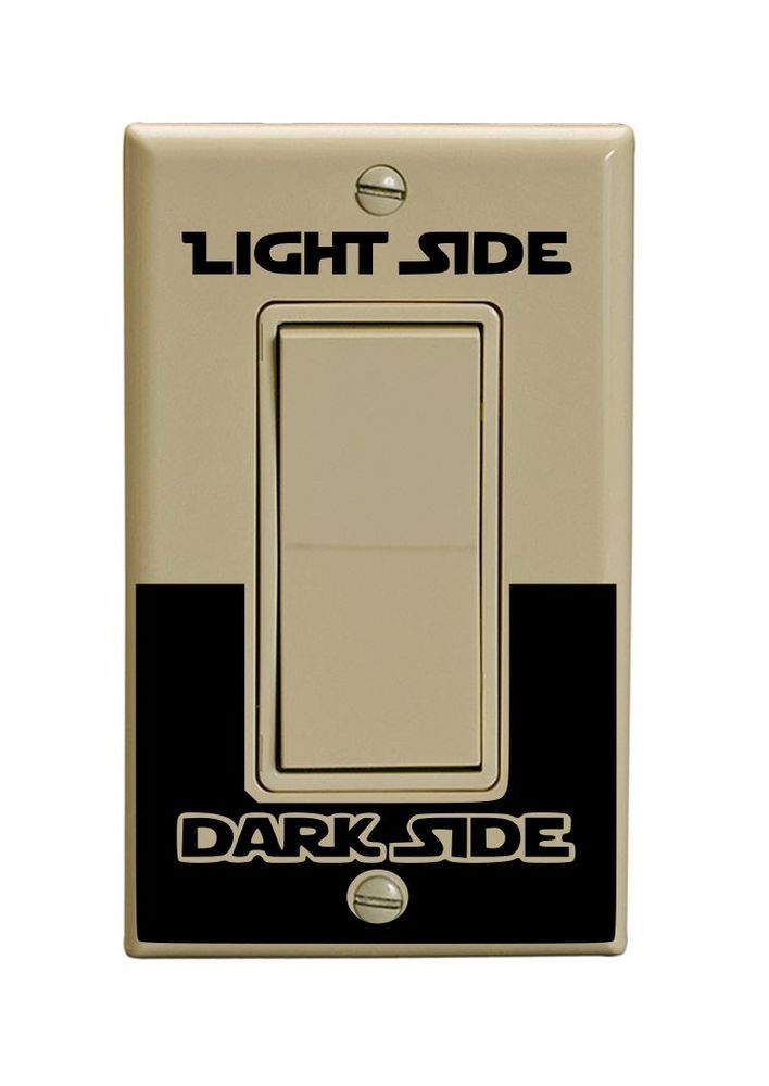 X2 starwars light switch decal vinyl single rocker switch
