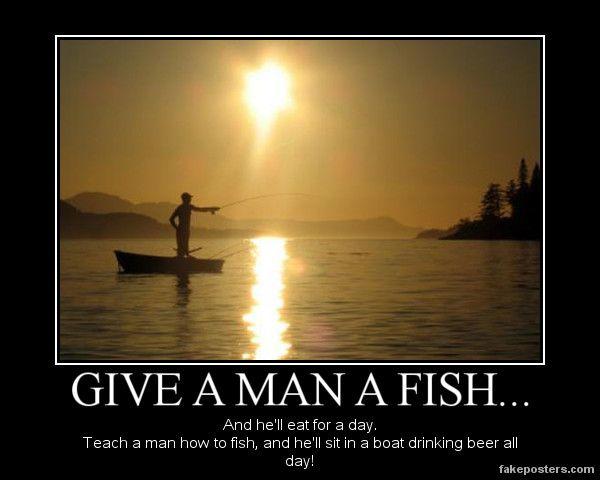 ️ Feed a man a fish. Give a Man a Fish: Funny Adaptations