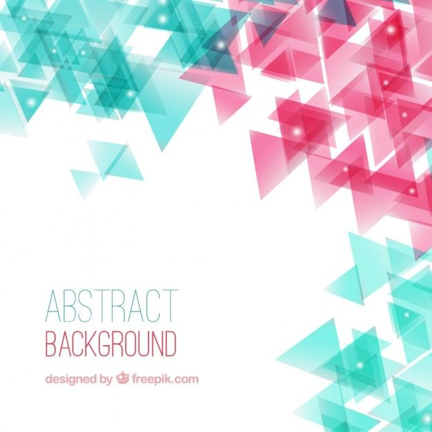 Abstract background with triangles Free Vector