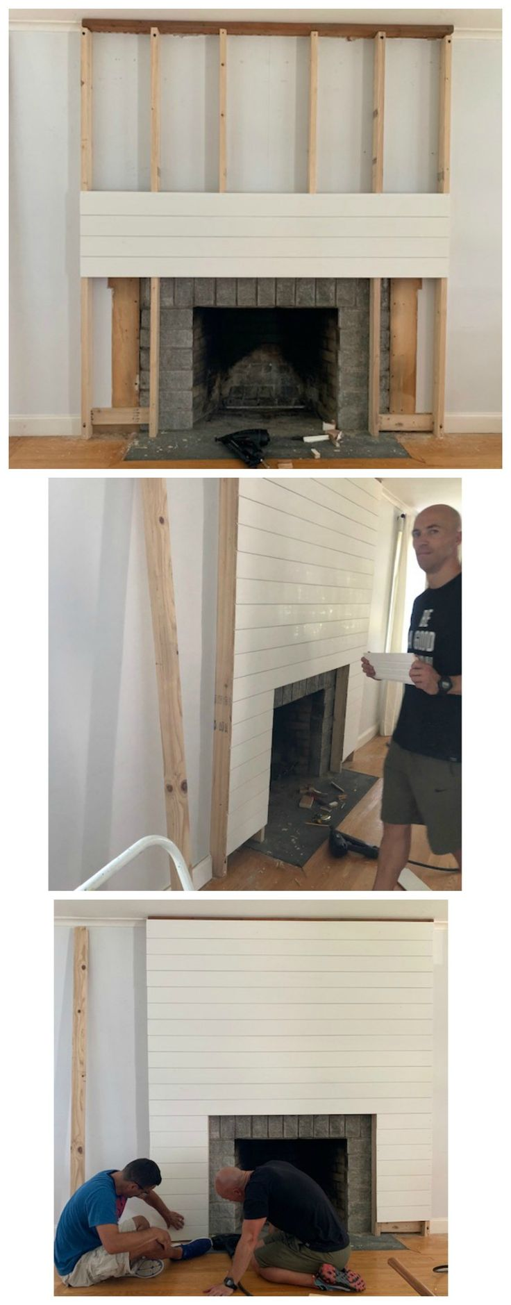 Shiplap Fireplace and DIY Mantle (Ditched the Old Traditional