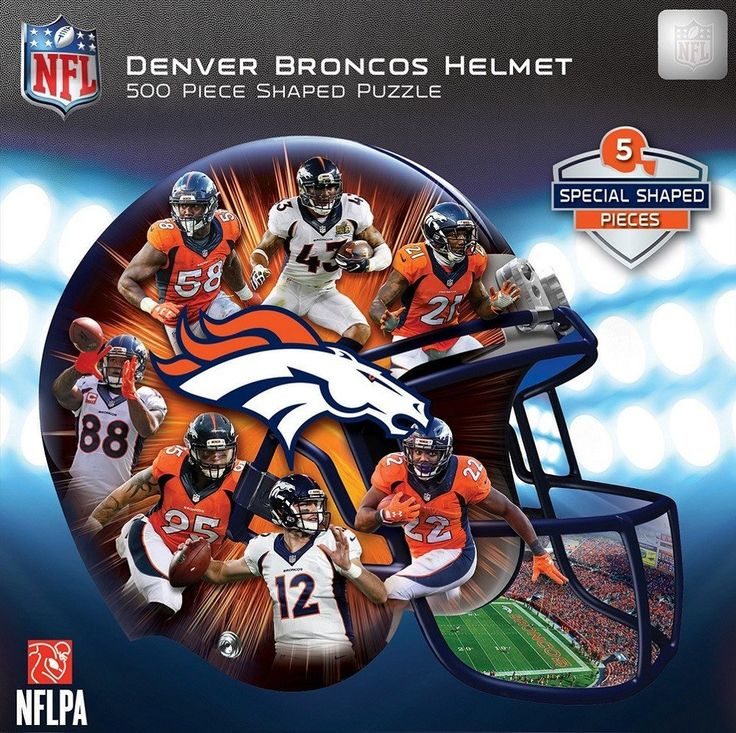 NFL Denver Broncos Helmet - 500 Piece Shaped Jigsaw Puzzle