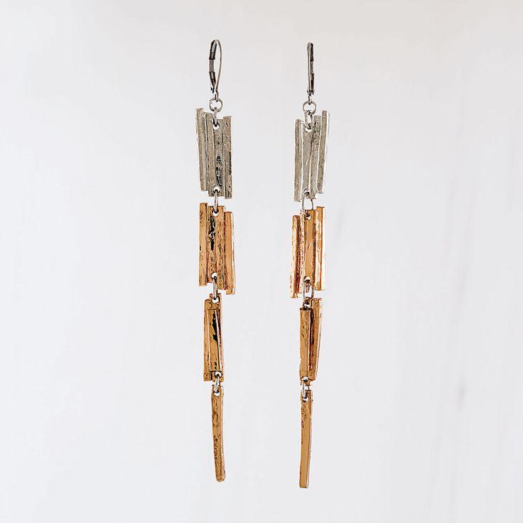 Automne-Hiver 2016, Boucles d'oreilles Wonchi en bronze (étain, plaqué bronze)  === 2016 Fall-Winter, Wonchi earrings in bronze (pewter, bronze-plated)