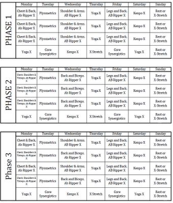 p90x schedule | P90x Schedule - What Order Are The P90x Workouts Done In?