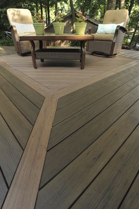 Two different decking colours come together with striking results!