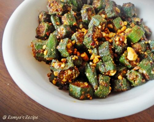 69 best oriya food images on pinterest indian food recipes indian ramyas recipe okra peanut fry forumfinder Image collections