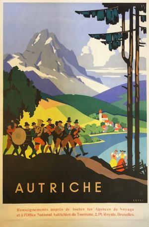 #Autriche  Affiche mises en vente le vendredi 15 septembre 2017, par Damien Voglaire - Les ventes Ferraton.  Dernier jour d'exposition mercredi 13 septembre de 10 à 18h.   Détails sur www.ferraton.be #affiche #poster