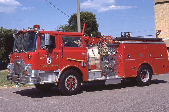 Richmond VA Engine 22 1982 Mack CF Pumper Fire Apparatus Slide