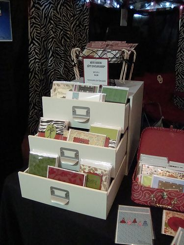cool use of drawers for cards...