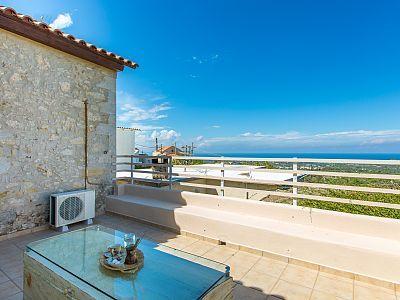 Rethymno villa rental - Stunning view from the balcony!
