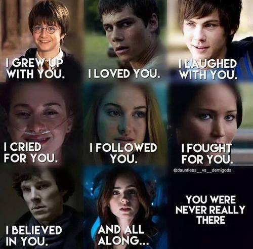 """Crecí con tigo. Te amo. Me reí con tigo. Te lloré. Seguí para ti. Luché para ti. Creí en ti. Y todo el tiempo ... Tu realmente nunca as estado allí."""