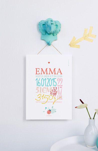 EMMA Geburtsdaten Druck A4