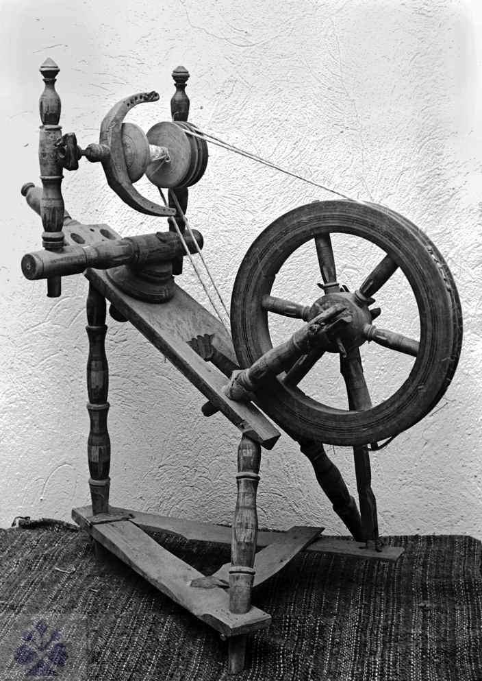 Tilted spinning wheel. Slovakia.