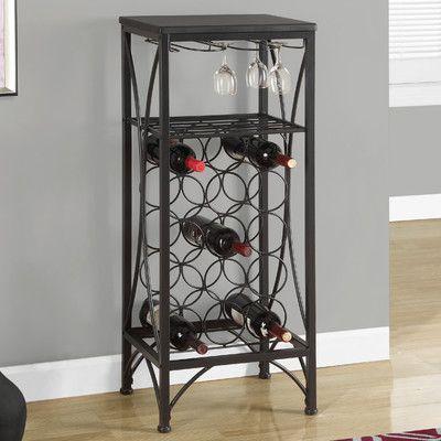 Monarch Specialties Inc. 15 Bottle Floor Wine Rack Finish: Black