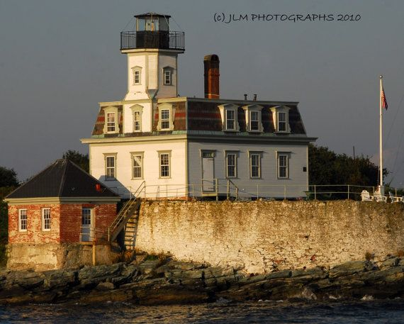 Rose Island Lighthouse Newport Rhode Island Art by JLMPHOTOGRAPHS