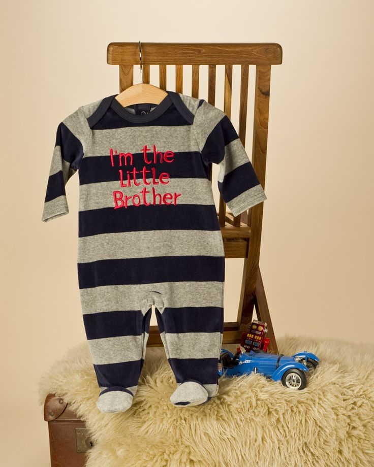 'I'm the Little Brother' - perfect for the little brother in your family!  Baby Boy Little Brother All in one Romper suit - Baby Boys Clothes