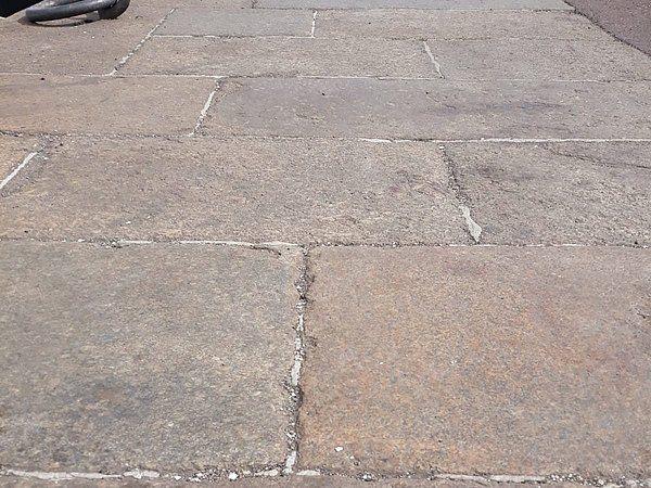 Alte Granitplatten Granitpflaster Granit Steinmauer Garten