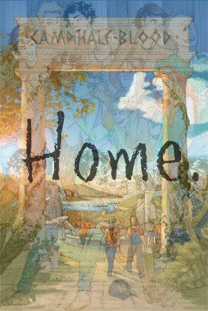 This is so awesome! I love how you can just see some of the characters faintly around the word home! :-)