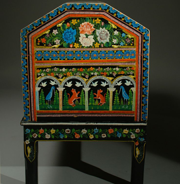 Vintage Mexican Painted and Lacquered Chest - Olinala - 16 Best Antique Mexican Furniture Images On Pinterest Haciendas
