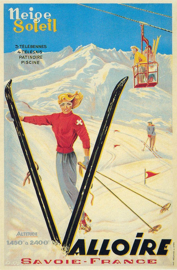 vintage ski poster...reépinglé par Maurie Daboux ◡ً❤