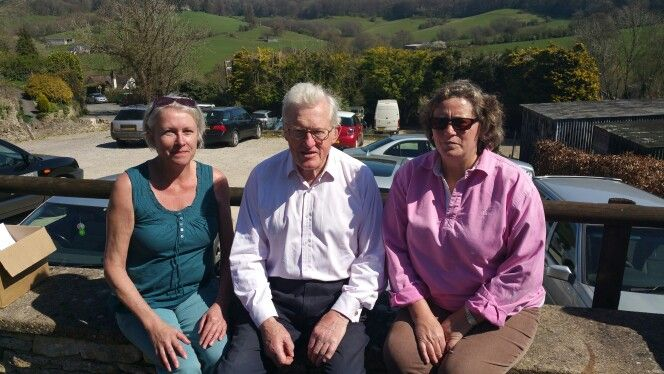 And a very famous ex Minister with my friend Julie who is involved with Stroud Cricket Club
