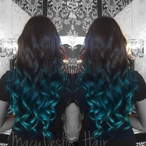 nice 20 Fairy-Like Blau Ombre Frisuren