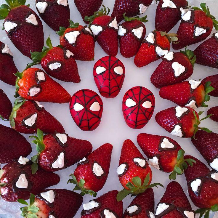 Spiderman strawberrys