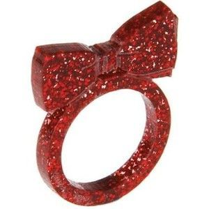 Bow Tie Ring - Glitter Red £10.50 - Christmas 2009
