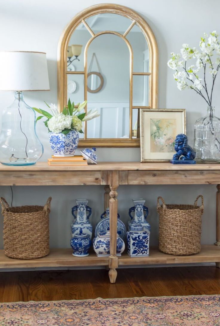 Renewed And Refreshed Spring Entryway Entrance Table Decor Foyer Table Decor Foyer Ideas Entryway