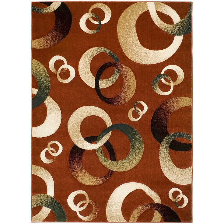 Lyke Home Brick Hand Carved Polypropylene Rug (5u0027 X 7u0027) (