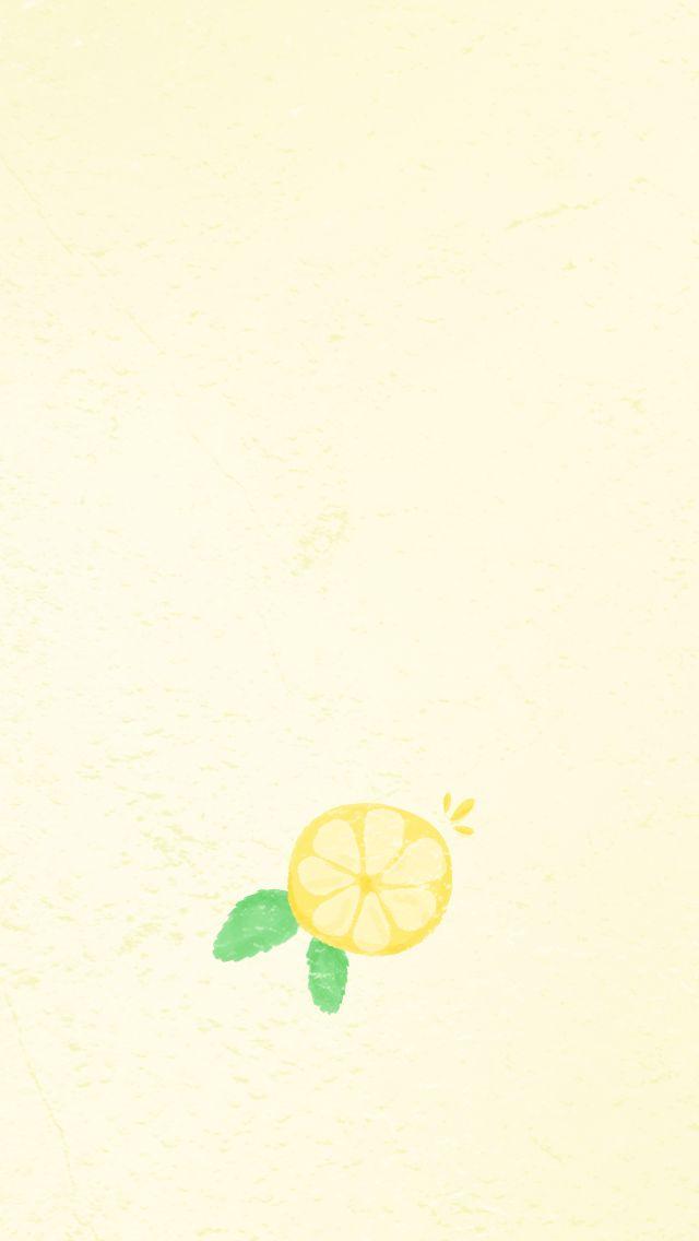 Watercolor Summer Lemon iPhone Wallpaper Home Screen