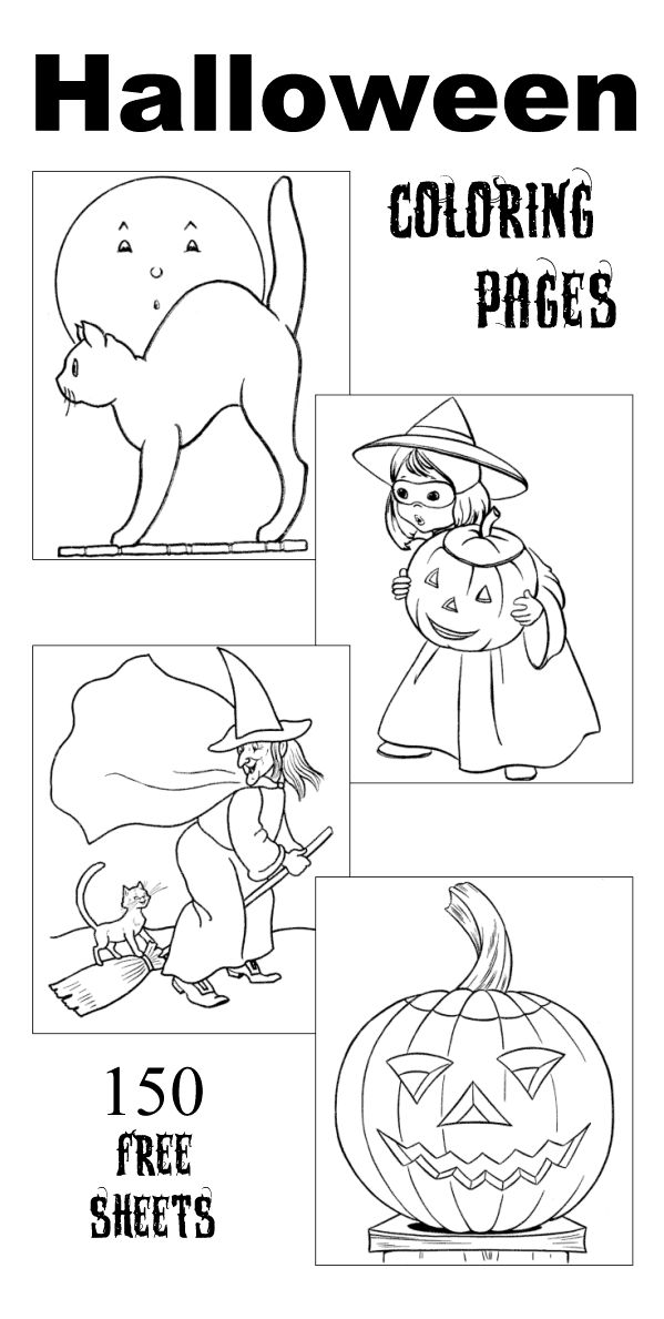 The Best Halloween Coloring Pages Over 150 Free Printable Sheets And Pictures