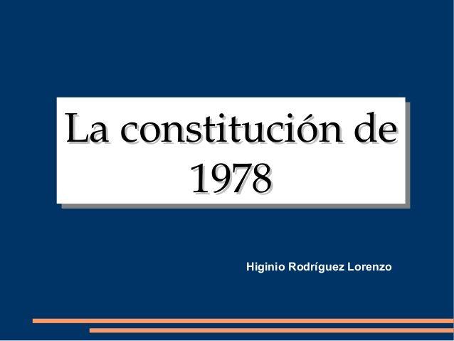 La Constitucion De 1978