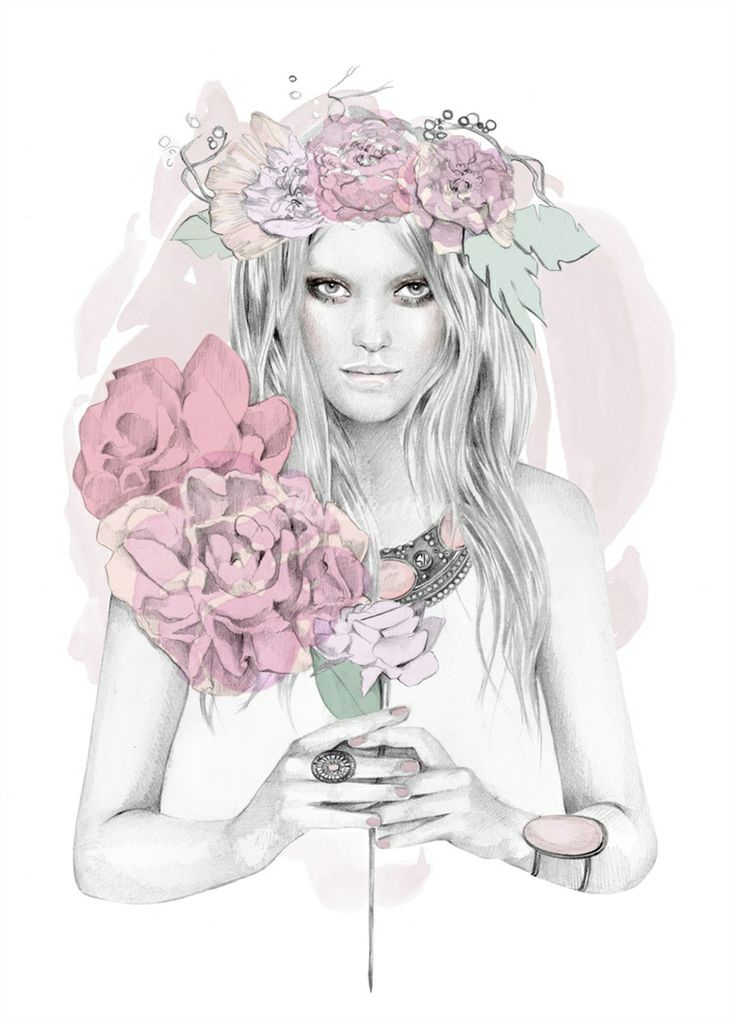 Kelly Smith is a fashion painter, specialized in portraiture