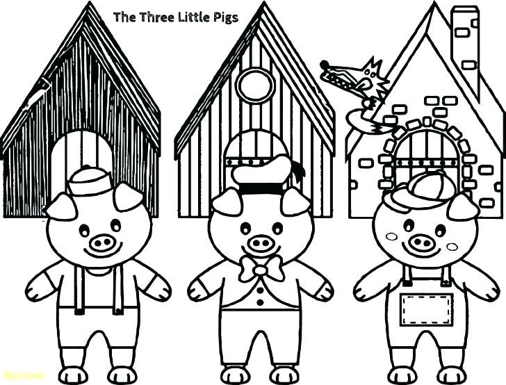 The Three Little Pigs Coloring Pages Three Little Pigs Story Coloring Pages Free Coloring Pages Three Little Cartoon Coloring Pages Little Pigs Coloring Pages