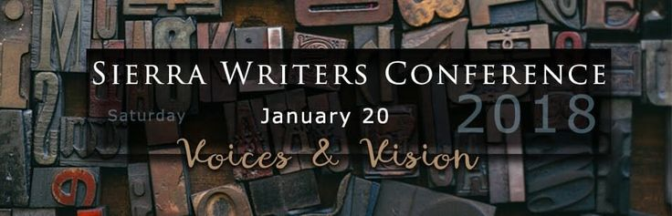 Third Annual Sierra Writers Conference on Jan. 20 at Sierra College Nevada County Campus
