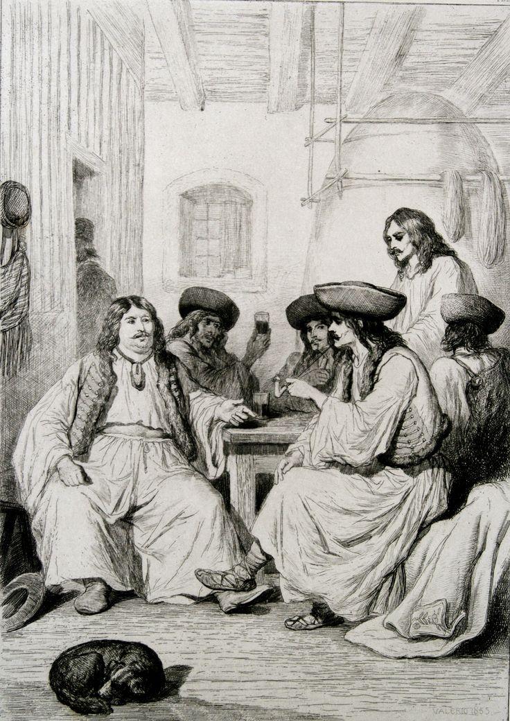 Cabaret Valaque des environs de Gross-Wardein, 1855