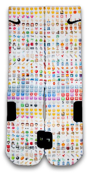 Emoji Emoji Emogi everywhere, get your emoji elite socks today! • Comes all standard Sizes (Small, Medium & Large) • Dri-fit fabric that pulls away sweat to help keep you cool and comfortable • Reinfo